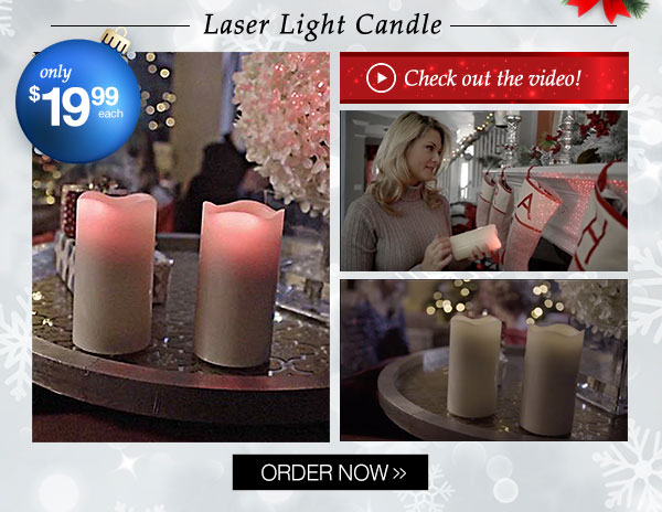 Laser Light Candle