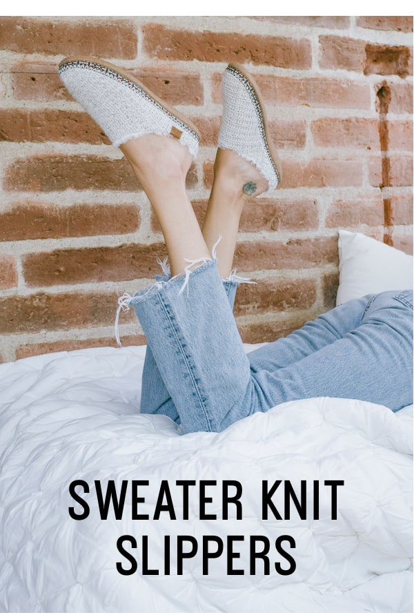 Sweater Knit Slippers