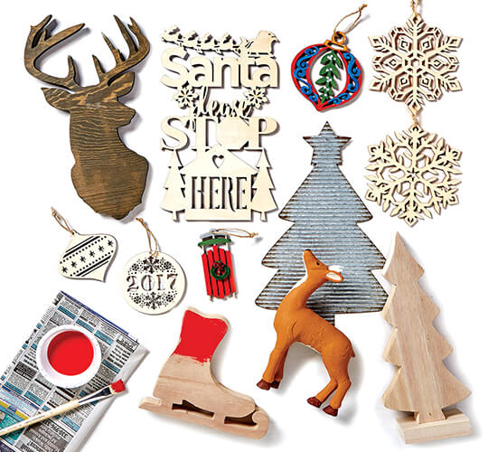 Fab Lab Holiday Craft Supplies.