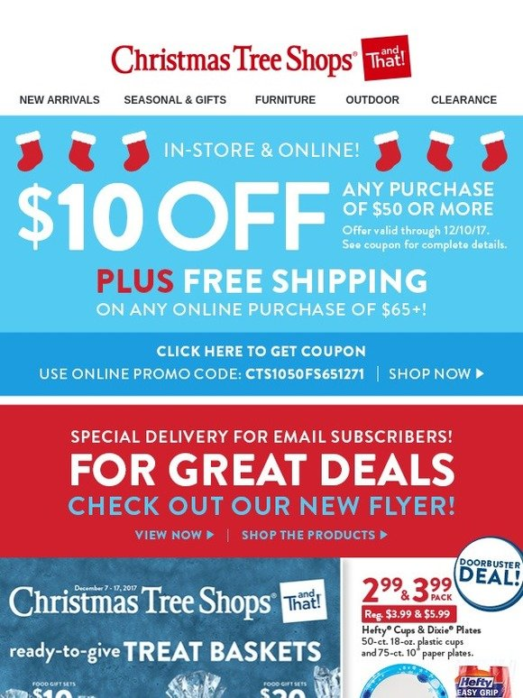 Christmas Tree Shops ItS Here Our New Flyer  A Holiday Savings