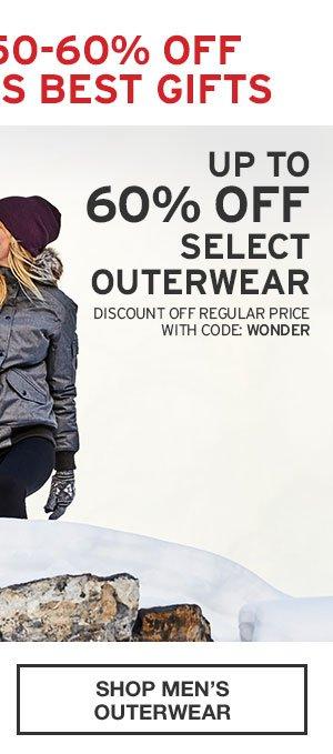 60% OFF SELECT OUTERWEAR | SHOP MEN'S OUTERWEAR
