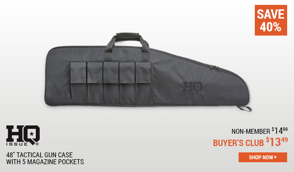HQ ISSUE 48 Inch Tactical Gun Case with 5 Magazine Pockets