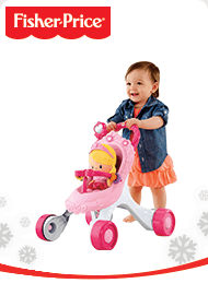Fisher-Price Princess Stroll-Along Musical Walker and Doll Gift Set