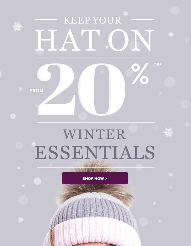 From 20% off Winter Essentials