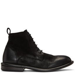 Marsll - Black Cetriolo Bombe Lace-Up Boots