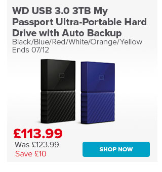 WD USB 3.0 3TB My Passport Ultra-Portable Hard Drive