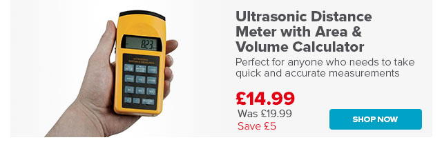 Ultrasonic Distance Meter with Area & Volume Calculator