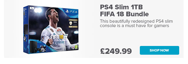 PS4 Slim 500GB FIFA 18 Bundle - Black