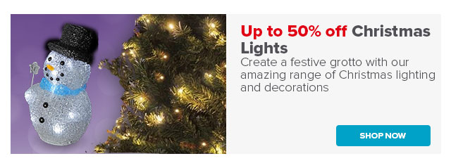 Up to 50% off Christmas Lights