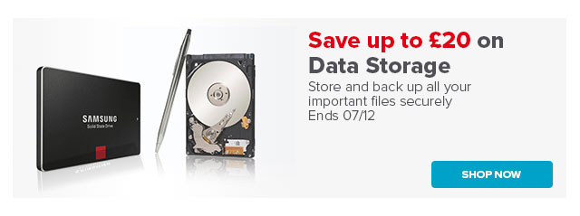 Save up to 20 on Data Storage Ends 07/12