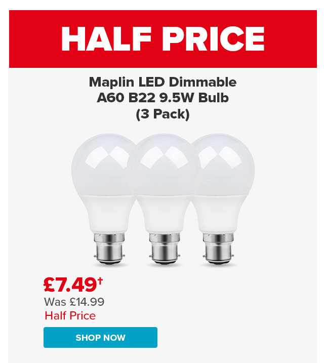Maplin GLS light bubs  pack