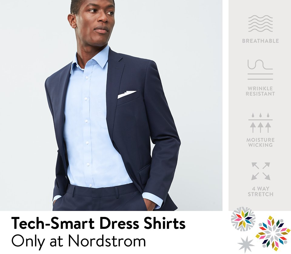 Tech-Smart dress shirts, only at Nordstrom: breathable, wrinkle-resistant.