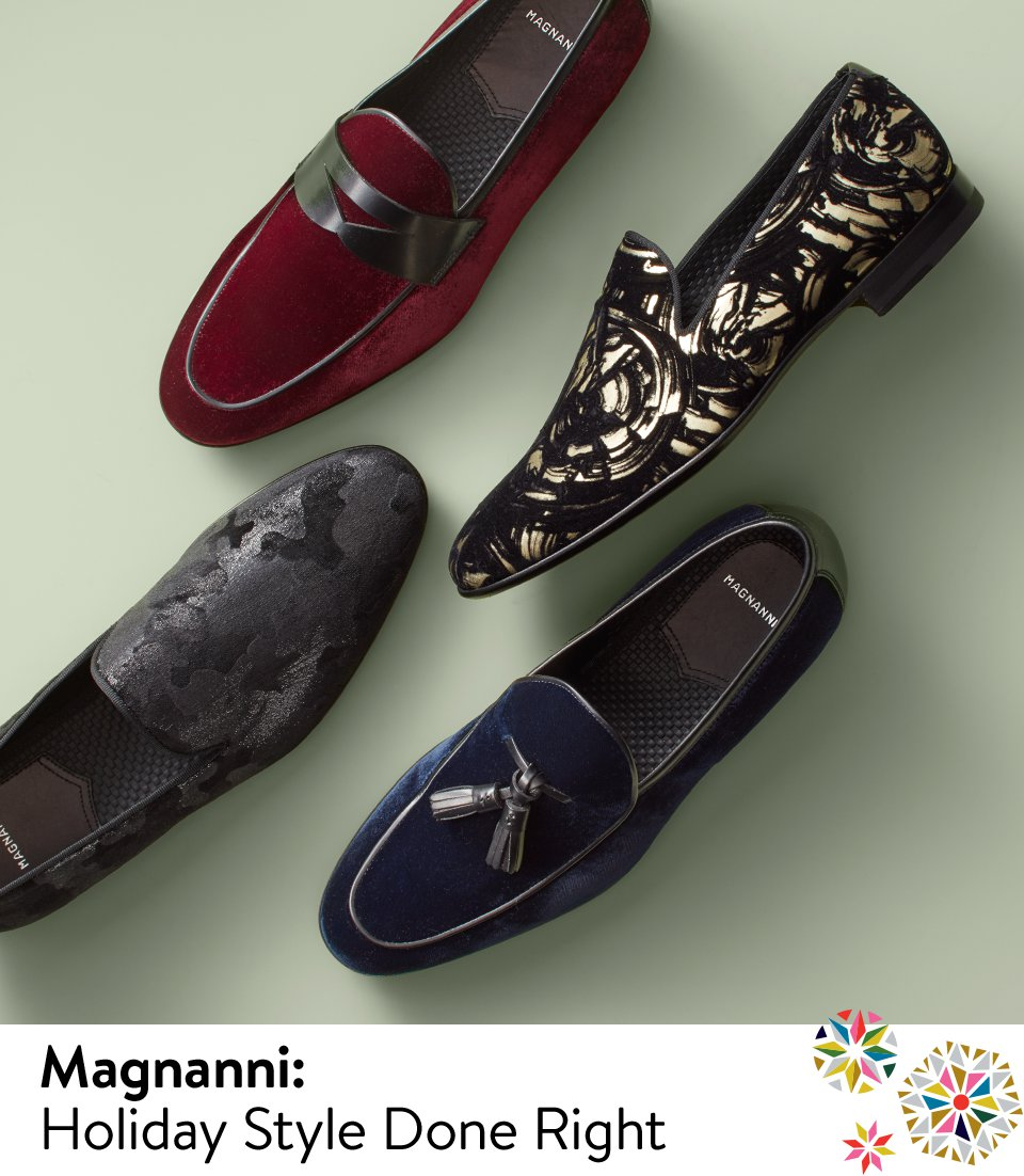 Magnanni velvet loafers, holiday style done right.