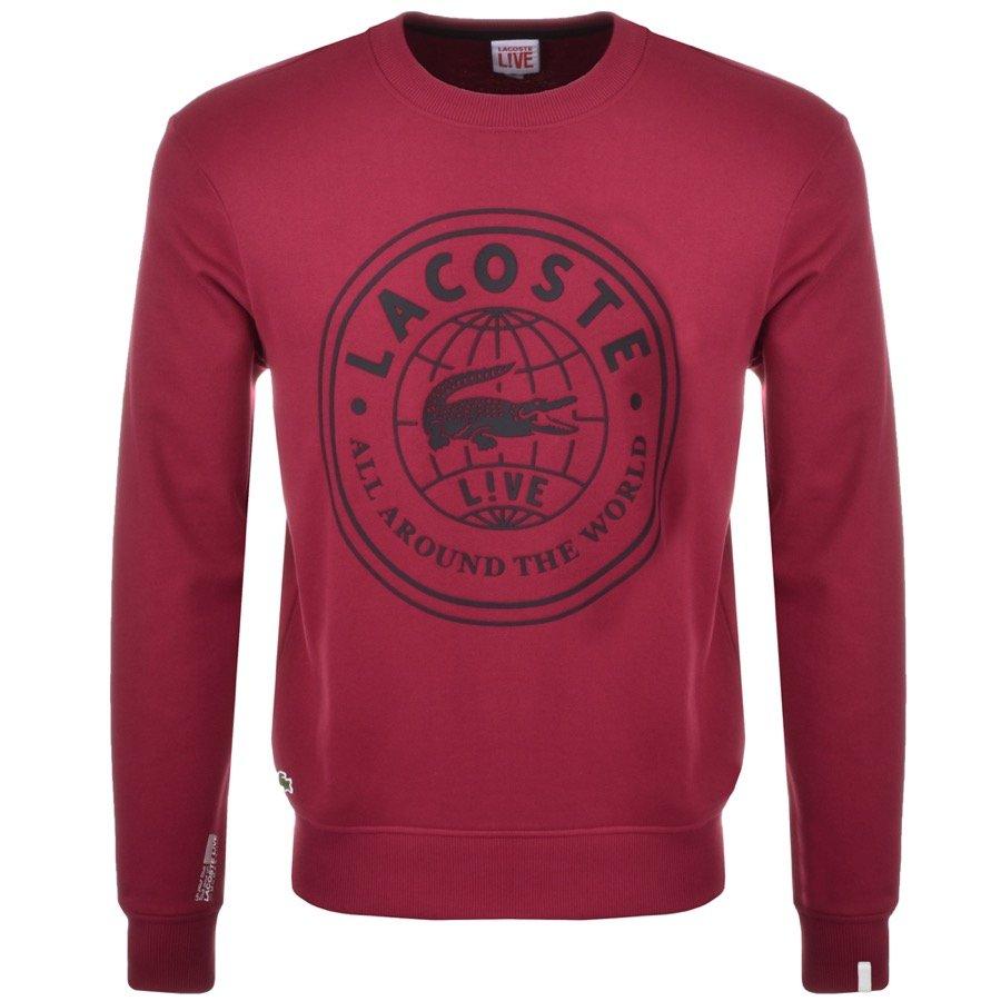 Lacoste Live Logo Sweatshirt Purple