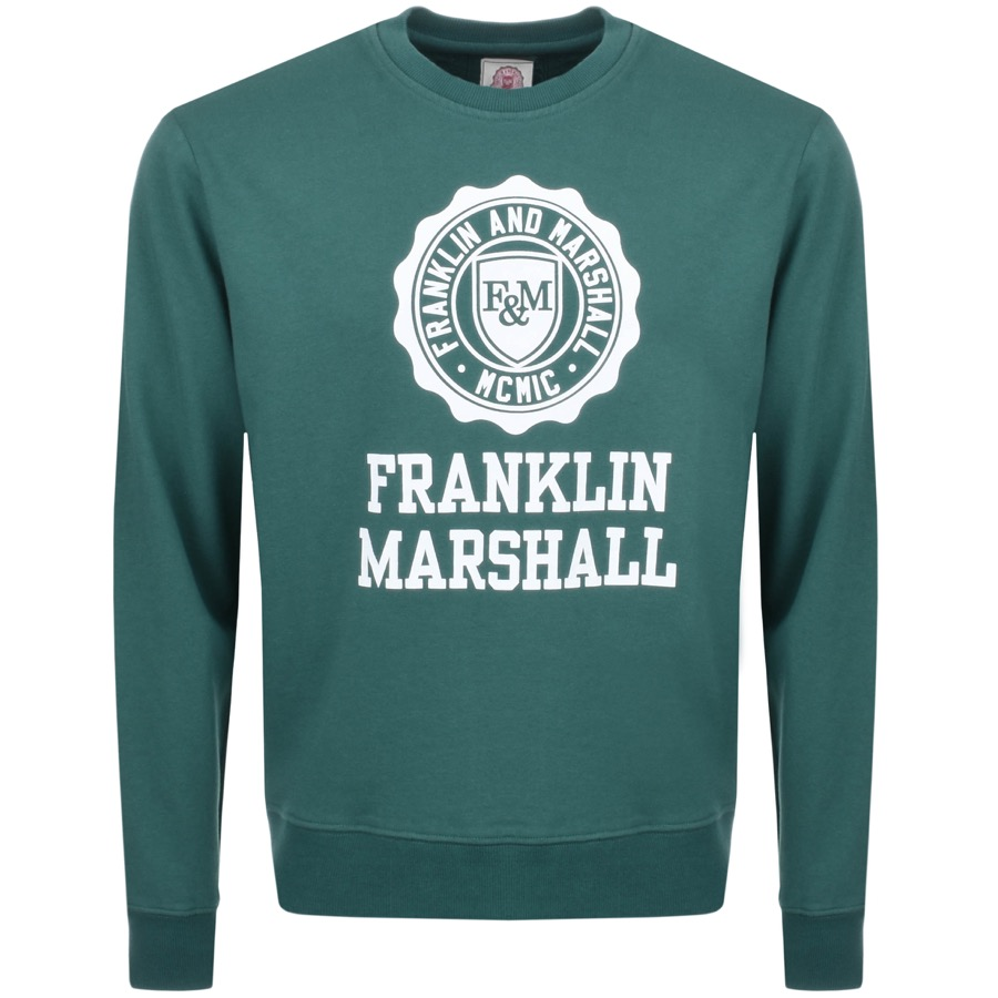 Franklin Marshall Logo Sweatshirt Green