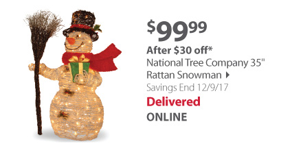 rattan snowman