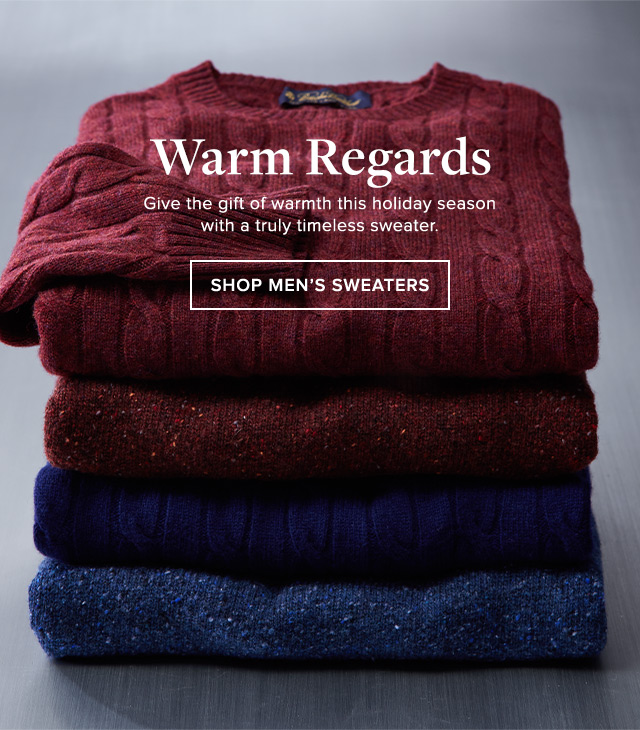 WARM REGARDS | SHOP MEN'S SWEATERS