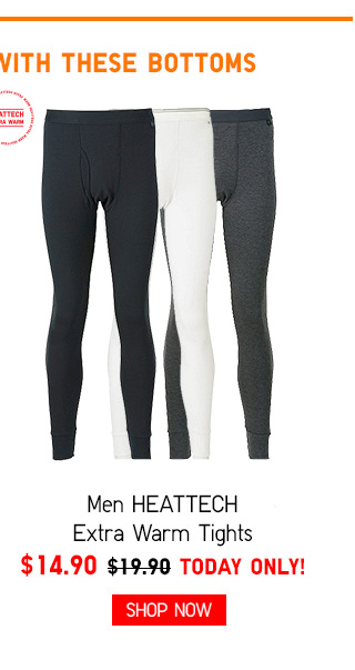 STAY EXTRA WARM WITH THESE BOTTOMS - Men HEATTECH Extra Warm Tights $14.90 - TODAY ONLY! Shop Now