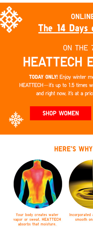 ONLINE ONLY - The 14 Days of Daily Deals - ON THE 7TH DAY...HEATTECH EXTRA WARM - SHOP WOMEN
