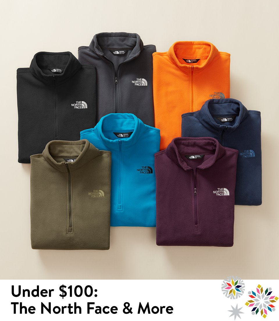The North Face pullovers and more, under $100.
