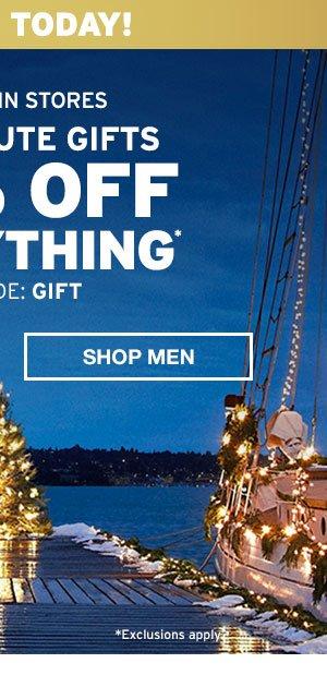 50% OFF EVERYTHING | SHOP MEN