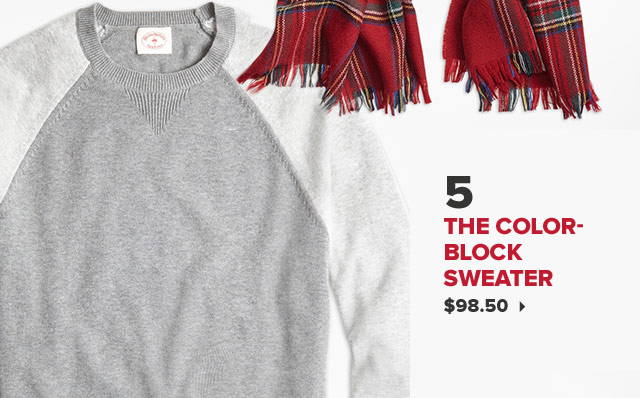 5. THE COLOR-BLOCK SWEATER | $98.50