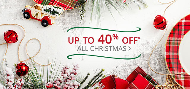 Up to 40% off All Christmas