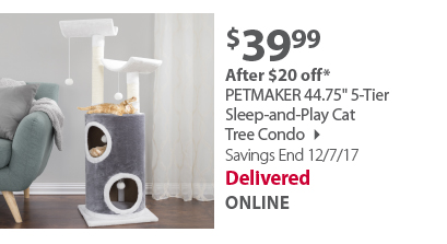 5-Tier Sleep-and-Play Cat Tree Condo
