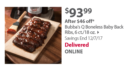 Bubba's Q Boneless Baby Back Rack Ribs