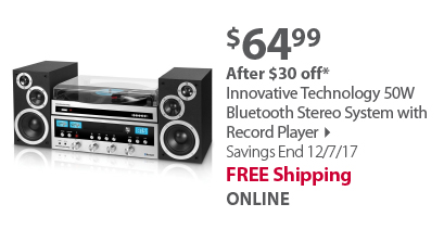 Innovative Technology 50W Bluetooth Stereo System