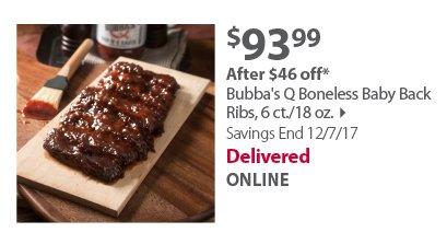 Bubba's Q Boneless Baby Back Rack Ribs