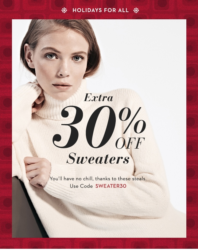 Extra 30% Off Sweaters