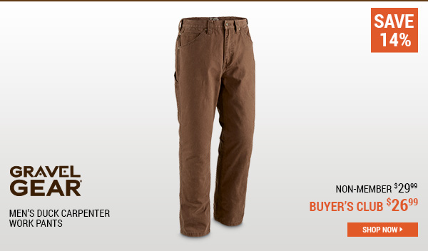 Gravel Gear Men's Duck Carpenter Work Pants