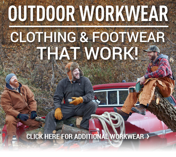 Outdoor Workwear - Clothing & Footwear That Work!