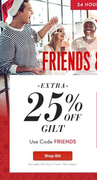 Extra 25% Off Gilt