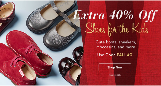 Extra 40% Off Kid's Shoes