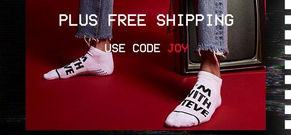 30% off plus free shipping use code JOY