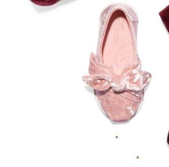 Light Faded Rose Velvet Tiny TOMS Classics
