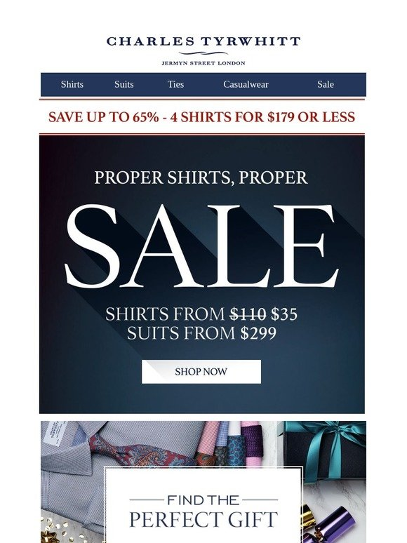 1346bc201a9e Charles Tyrwhitt  Save up to 65% on holiday gifts
