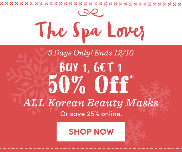 Buy 1, Get 1 50% Off All Korean Beauty Masks