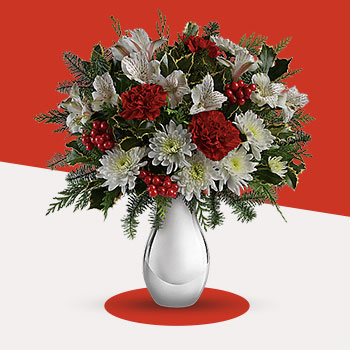 Telefloras Silver And Snowflakes Bouquet