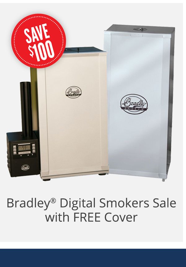 Bradley Digital Smokers Sale with FREE Cover