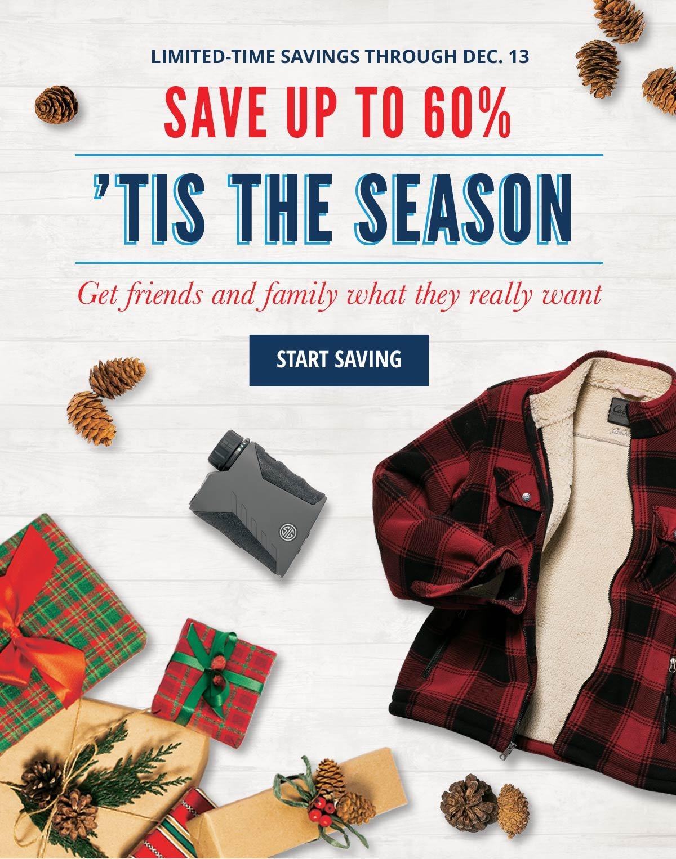 Save up to 60%   'Tis The Season
