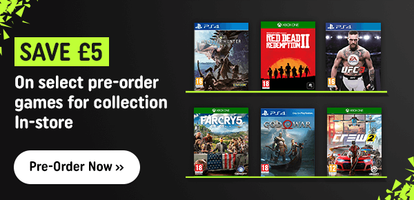 Save When You Pre-Order These Select Game for In-Store Collection