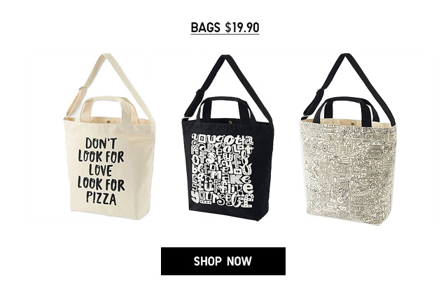 Online + Select Stores - TIMOTHY GOODMAN - Bags $19.90
