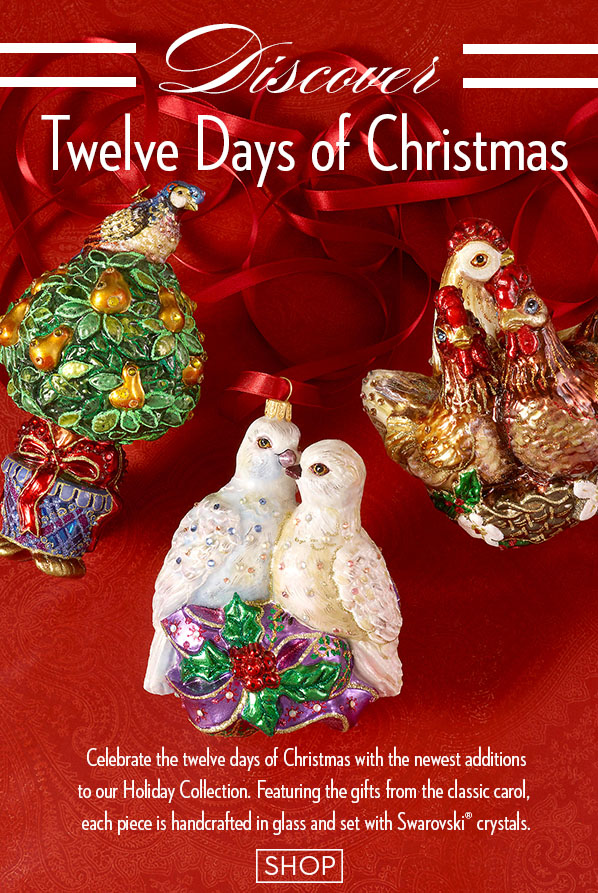 Jay Strongwater The Beautiful Twelve Days Of Christmas Ornaments