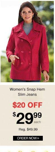 Wool-Blend Classic Pea Coat