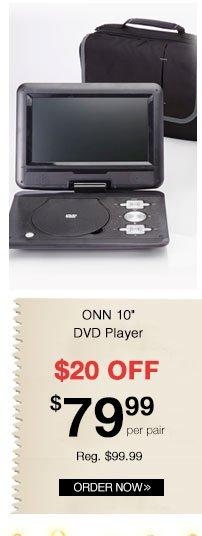 ONN 10 inch DVD Player