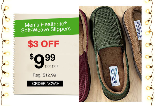 Healthrite Soft-Weave Slippers