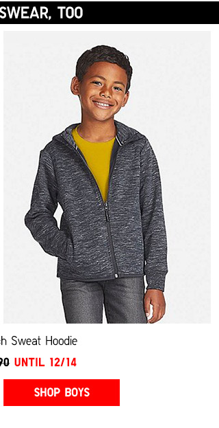 Top things off with weekly promotions -- Kids DRY Stretch Sweat Hoodie